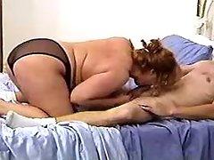 Busty chubby milf spoils horny man