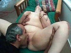 Lustful chubby girl enjoys oral sex