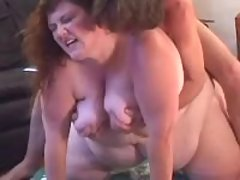 Megafat busty lady sucks n titfucks