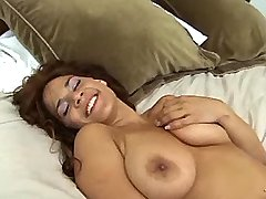 Chesty brunette gets real titsfuck