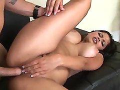 Guy fucks ethnic girl with big tits