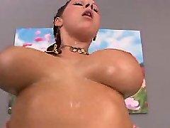 Rednead w huge boobs jumps on dick