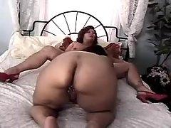 Hot BBW angel takes up huge hummer