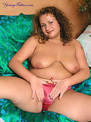 Plumper in red silk panty