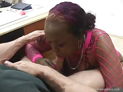 Ghetto street whores compete to give the best deepthroating
